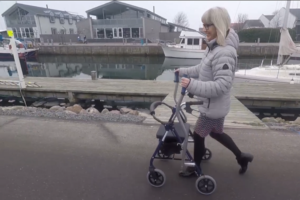 Birgitte Vangsgaard - get a demo of CrossWALKER, the new rollator