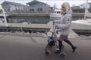 Birgitte Vangsgaard - get a demo of CrossWALKER, the new rollator