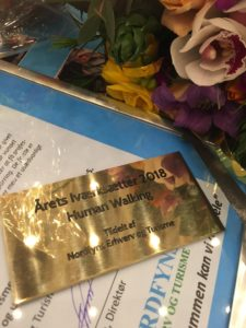 Human Walking ApS - the company behind CrossWALKER named as Entrepreneur of the Year 2018